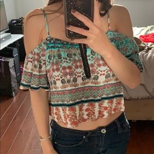 Off the shoulders top